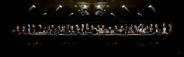 Mafia Poster featuring the digital art The Last Sit Down by Laurence Adamson