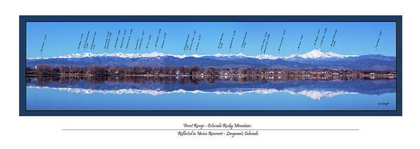 Front Range Panorama with peaks identified by Phyllis Dwyer