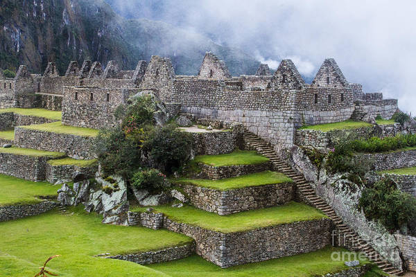 Fog advancing on Machu Picchu Peru by Dan Hartford