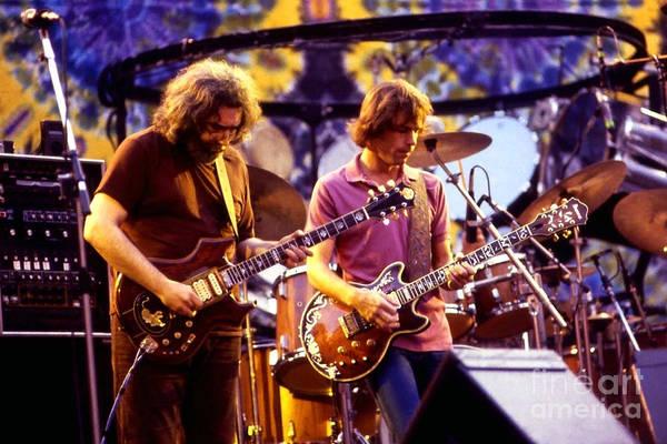 Jerry Garcia and Bob Weir - Grateful Dead  77 by Vintage Rock Photos