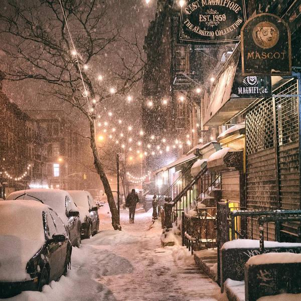 New York City - Winter Snow Scene - East Village by Vivienne Gucwa