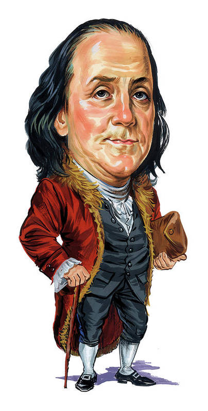 Benjamin Franklin Poster featuring the painting Benjamin Franklin by Art