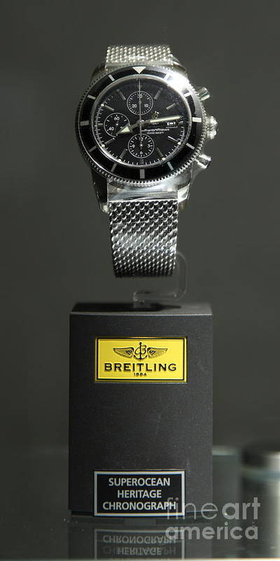 Watch Poster featuring the photograph Breitling Watch - 5d20664 by Wingsdomain Art and Photography