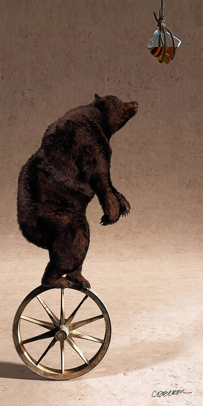 Bear Poster featuring the digital art Equilibrium Iv by Cynthia Decker