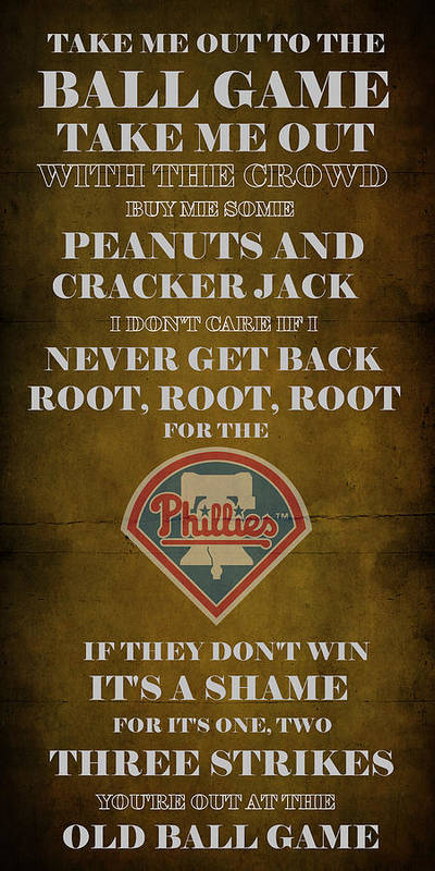 Phillies Poster featuring the digital art Phillies Peanuts And Cracker Jack by Movie Poster Prints