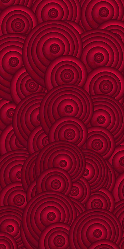Red Swirls Poster featuring the painting Red Swirls by Frank Tschakert