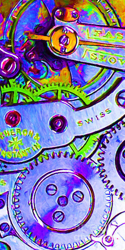 Steampunk Poster featuring the photograph Time In Abstract 20130605p36 Long by Wingsdomain Art and Photography