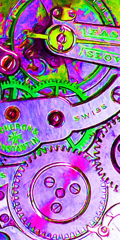 Steampunk Poster featuring the photograph Time In Abstract 20130605p72 Long by Wingsdomain Art and Photography