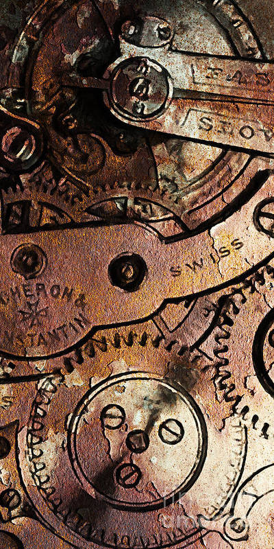 Steampunk Poster featuring the photograph Time In Abstract 20130605rust Long by Wingsdomain Art and Photography