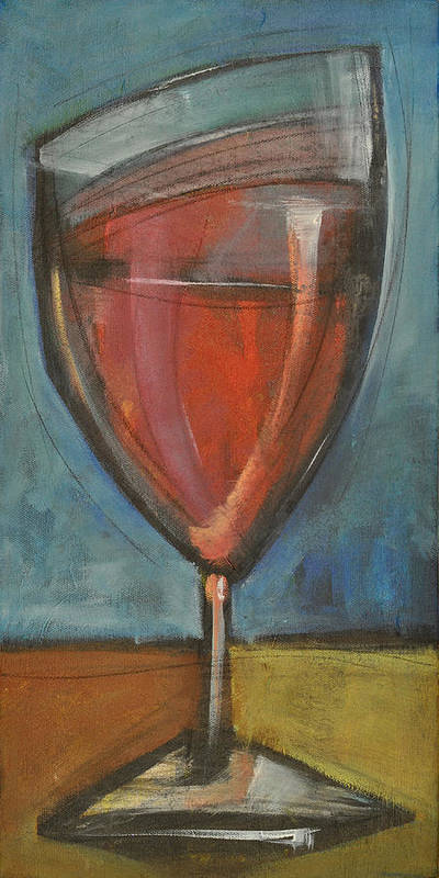 Wine Poster featuring the painting Glass Of Red by Tim Nyberg