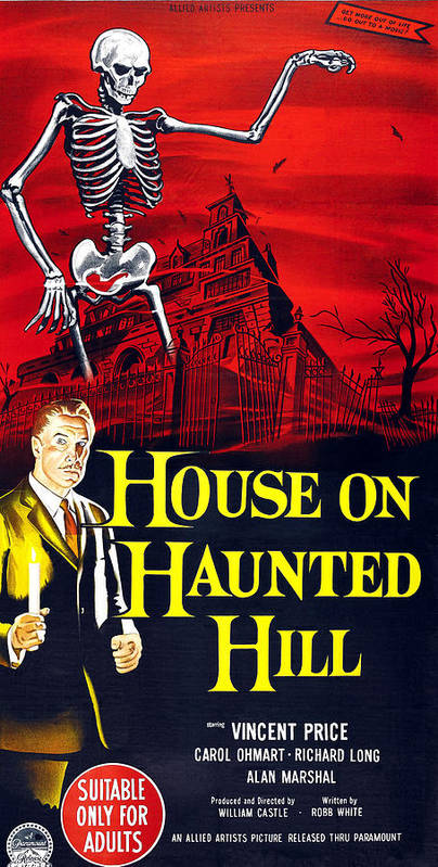 1950s Movies Poster featuring the photograph House On Haunted Hill, Bottom Left by Everett
