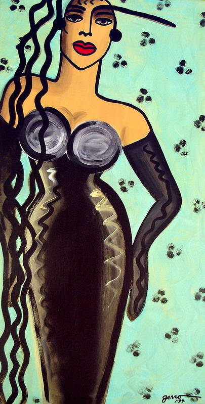 Haute Couture Artwork Poster featuring the painting Haute Couture Runway by Helen Gerro