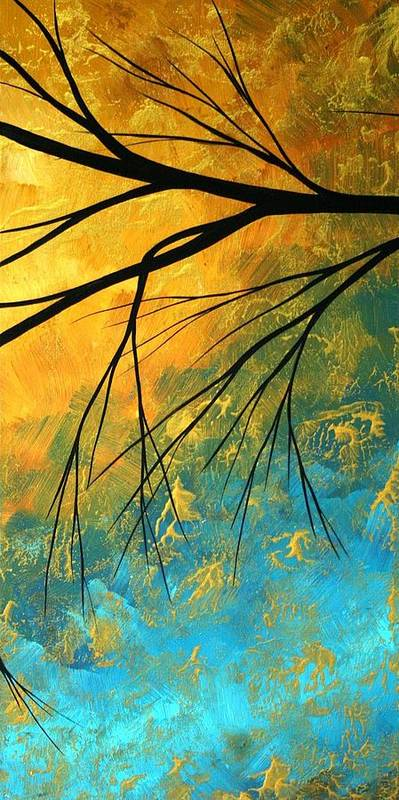 Abstract Poster featuring the painting Abstract Landscape Art Passing Beauty 2 Of 5 by Megan Duncanson