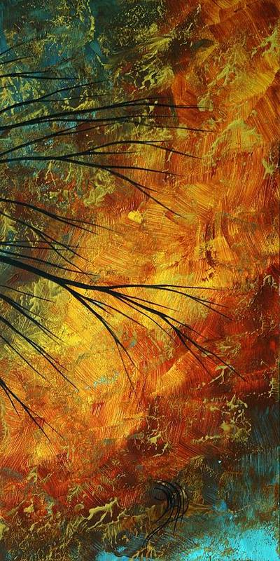Abstract Poster featuring the painting Abstract Landscape Art Passing Beauty 5 Of 5 by Megan Duncanson