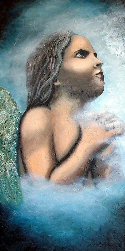 Angel Poster featuring the painting Angel Of Faith by Elizabeth Lisy Figueroa
