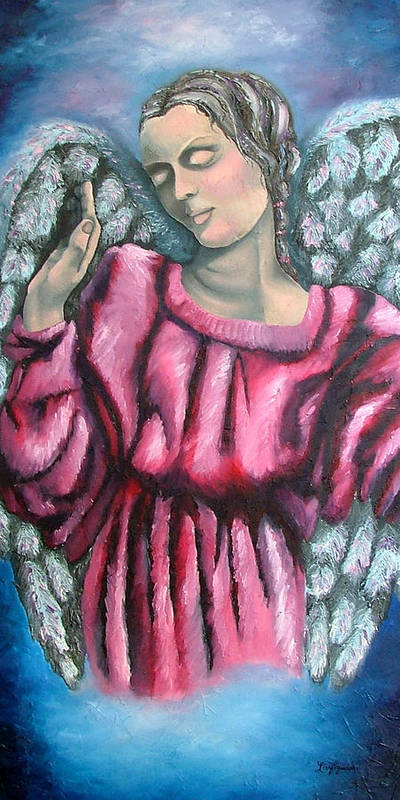 Angel Poster featuring the painting Angel Of Hope by Elizabeth Lisy Figueroa