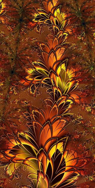 Digital Art Poster featuring the digital art Autumnal Glow by Amanda Moore