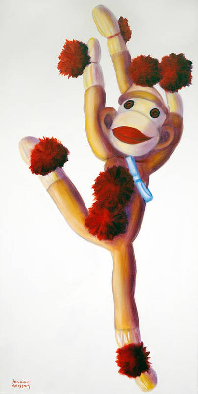 Dancer Poster featuring the painting Dancer Made Of Sockies by Shannon Grissom