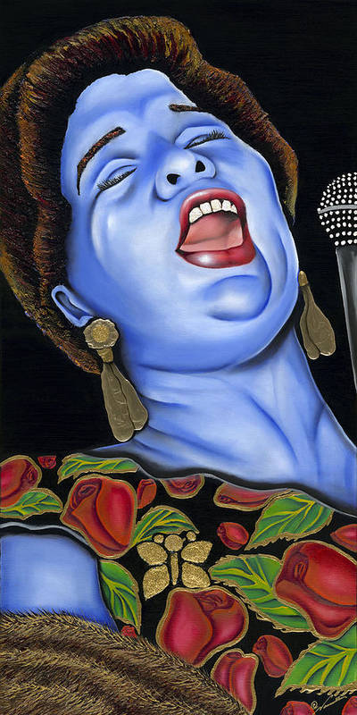 Portrait Poster featuring the painting Ella by Nannette Harris