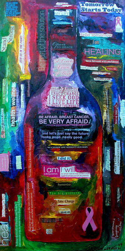 Breast Cancer Poster featuring the painting I Am Strong by Patti Schermerhorn
