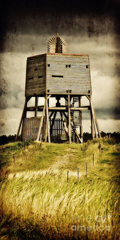 Wadden Sea National Park Poster featuring the photograph Observation Tower by Angela Doelling AD DESIGN Photo and PhotoArt