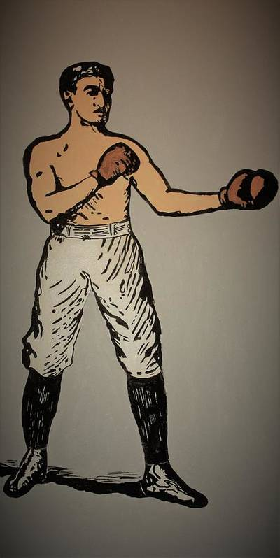 Old School Boxer Poster