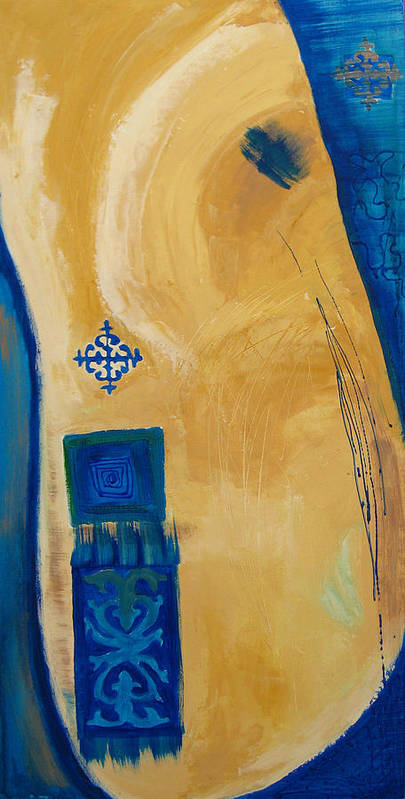 Abstract Poster featuring the painting Steppe Metamorphosis 1 by Aliza Souleyeva-Alexander