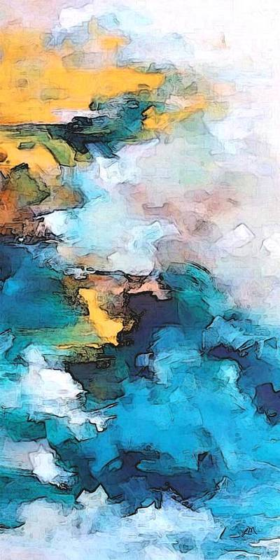 Abstract Poster featuring the digital art Sweet Memory Shades by Linda Mears