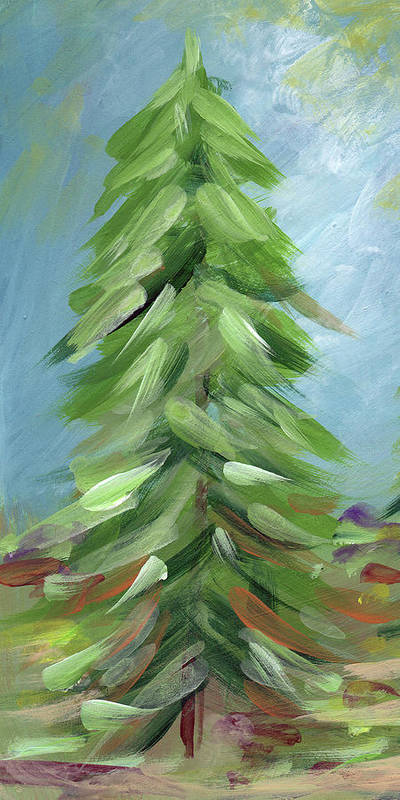 Tree Poster featuring the painting Winter Tree- Expressionist Art By Linda Woods by Linda Woods