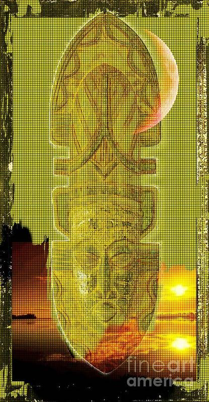 African Art Poster featuring the digital art Mystical by Hasseem Abdallah