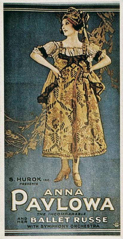 One Poster featuring the photograph Pavlova, Anna 1882-1931. Poster by Everett