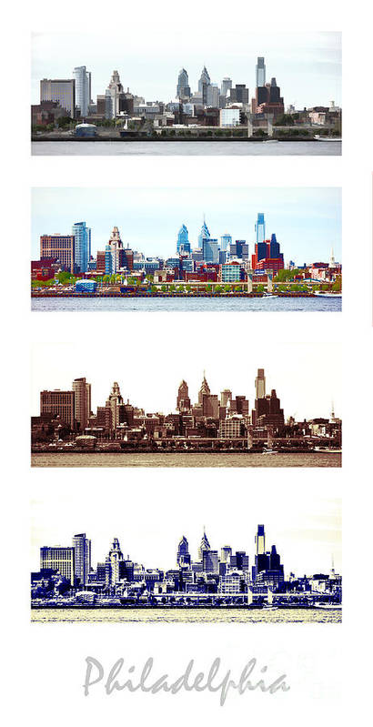 Philadelphia Poster featuring the photograph Philadelphia Four Seasons by Olivier Le Queinec