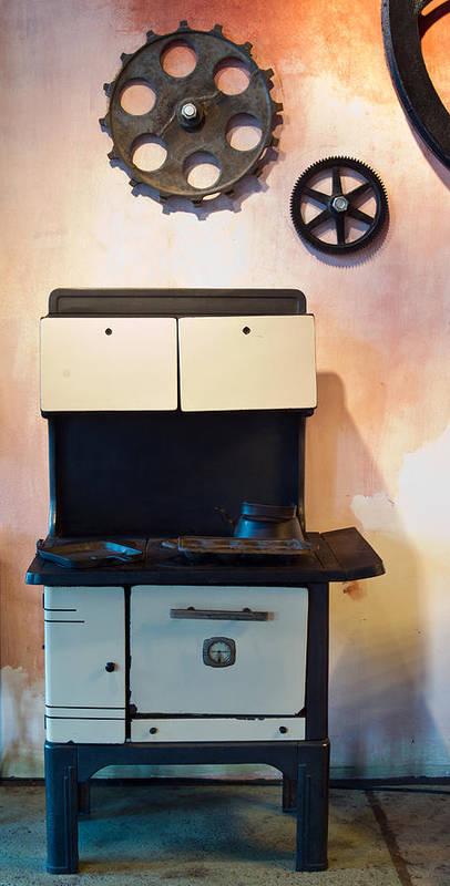 Nostalgia Poster featuring the photograph Vintage Kitchen Stove 4 by Douglas Barnett