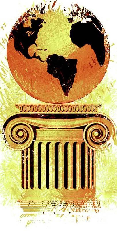 Freemason Poster featuring the digital art Freemason Symbolism by Pierre Blanchard