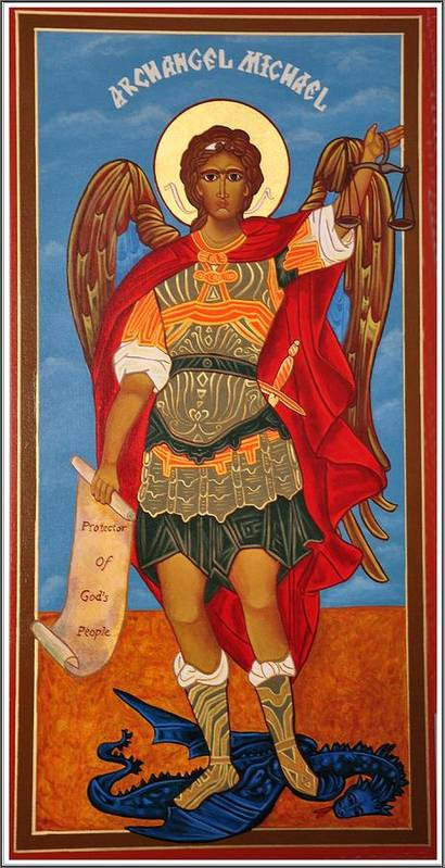 Angel Poster featuring the photograph Arch Angel - St Michael by Bill Cannon
