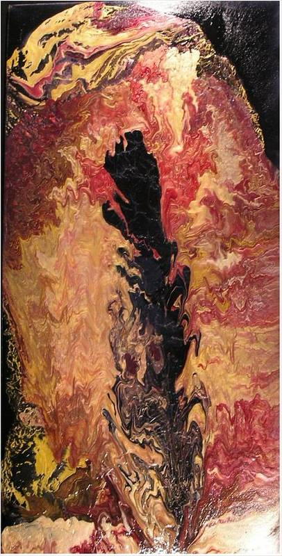 Abstract Poster featuring the painting Fire - Elemental Spirit by Patrick Mock
