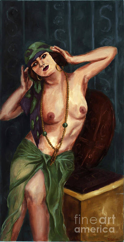 Nude Poster featuring the painting Gypsy by Robin DeLisle
