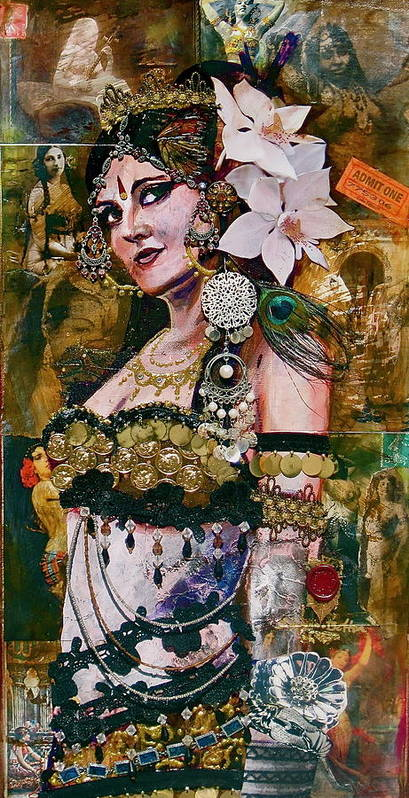 Belly Dance Poster featuring the painting Midway Magic by Stephanie Bolton