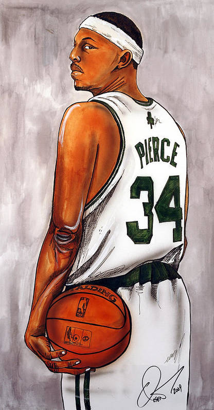 Paul Pierce Poster featuring the painting Paul Pierce - The Truth by Dave Olsen