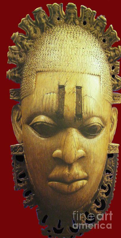 Head Poster featuring the digital art Queen Idhia by Joe Ibenegbu Azunna