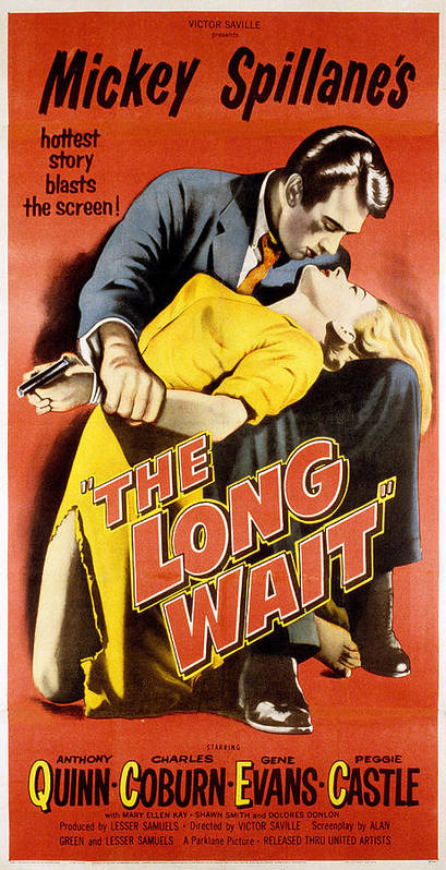 1950s Poster Art Poster featuring the photograph The Long Wait, Anthony Quinn, Peggie by Everett