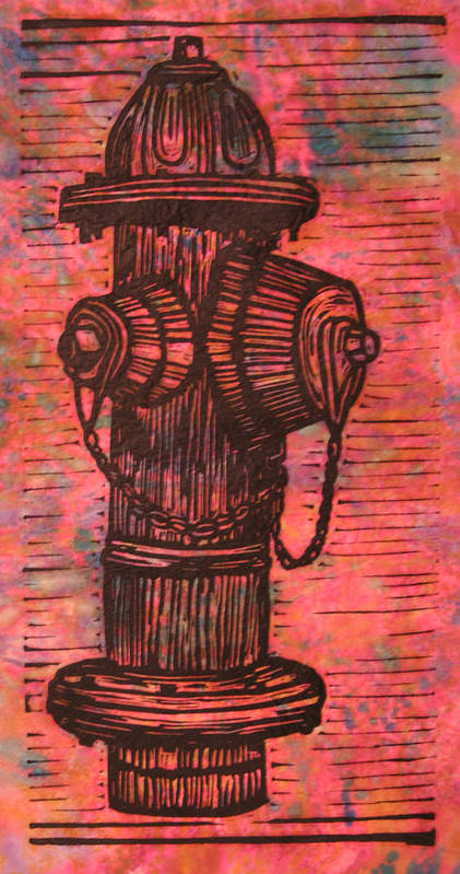 Hydrant Poster featuring the drawing Hydrant by William Cauthern