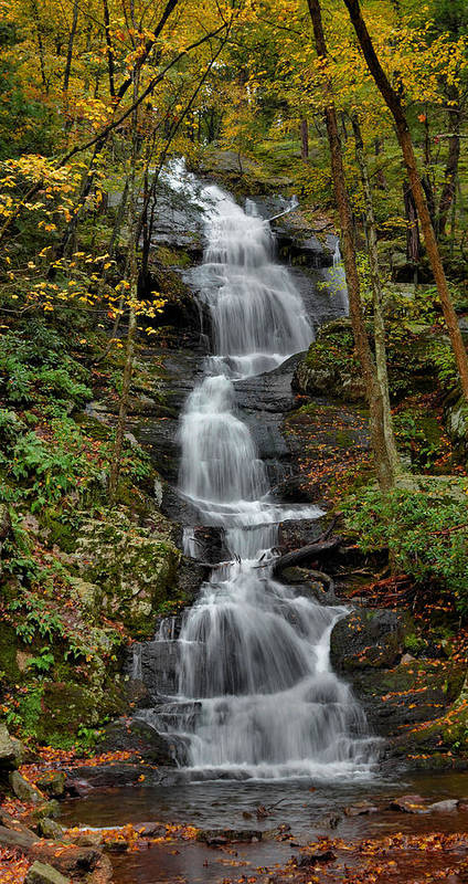 Waterfall Poster featuring the photograph Buttermilk Falls In Autumn by Stephen Vecchiotti