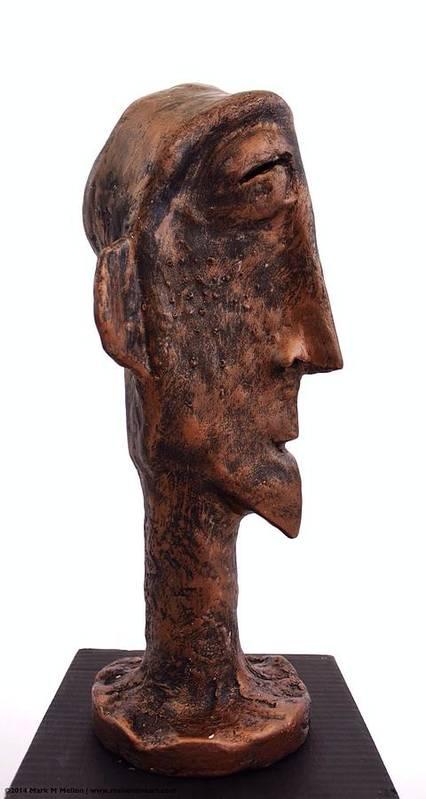 Bust Poster featuring the sculpture Fabulas Bronze Idol by Mark M Mellon