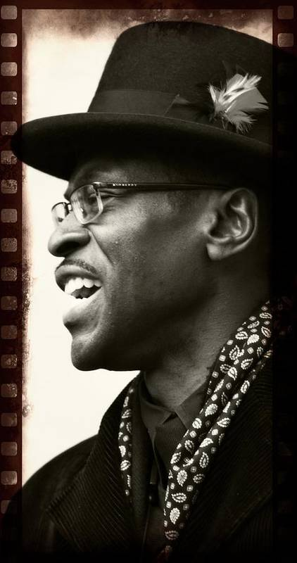 Mingus Big Band Member Black Man Hat Filmstrip Poster featuring the photograph Sweet Hat by Alice Gipson