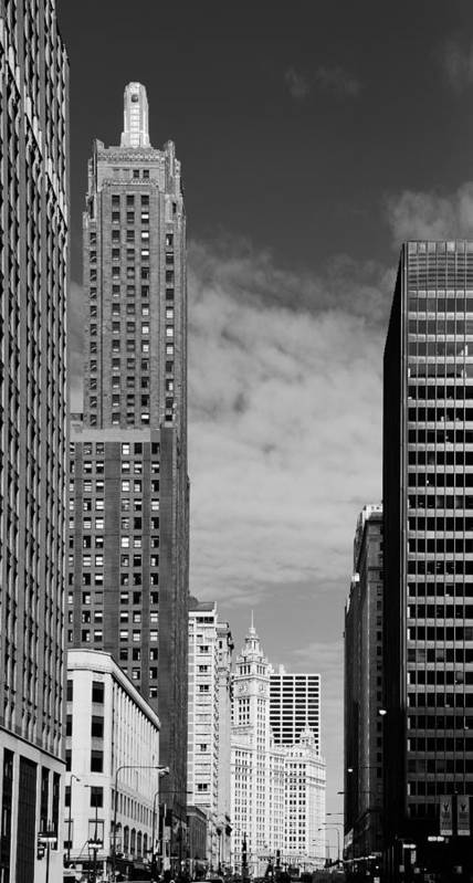 Carbide Poster featuring the photograph Two Chicago Classics- Carbide And Carbon And Wrigley Building by Christine Till