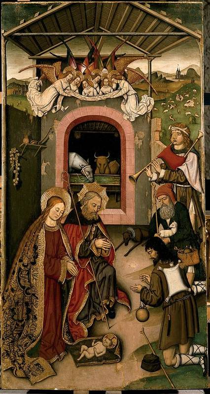 Holy Poster featuring the photograph Unknown, Crib Altarpiece, 15th Century by Everett