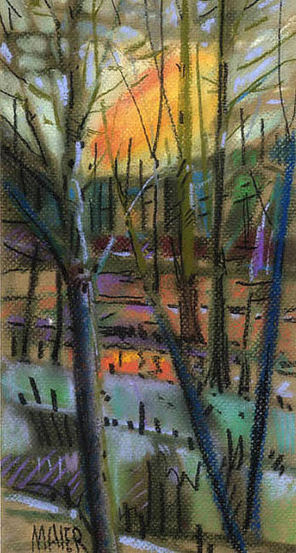Abstract Poster featuring the painting Winter Solstice by Donald Maier