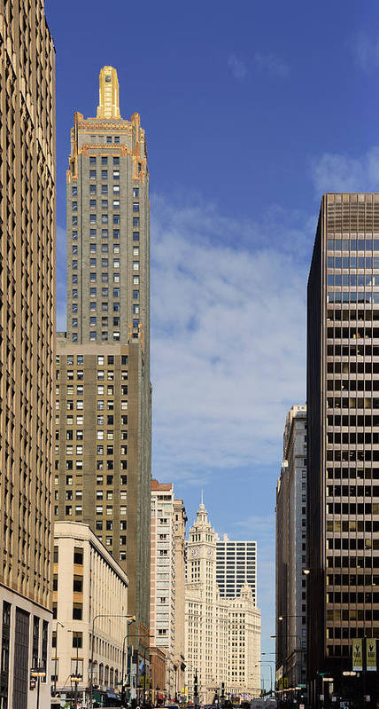Carbide Poster featuring the photograph Carbide And Carbon And Wrigley Building - Two Chicago Classics by Christine Till