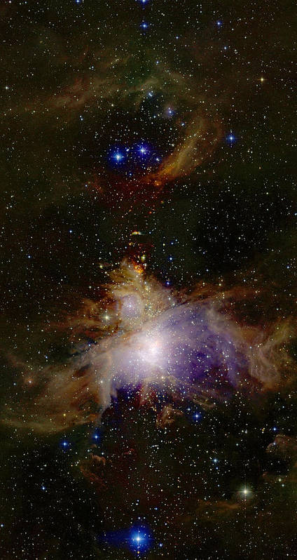 Great Poster featuring the photograph Great Orion Nebula by 2mass Projectnasa